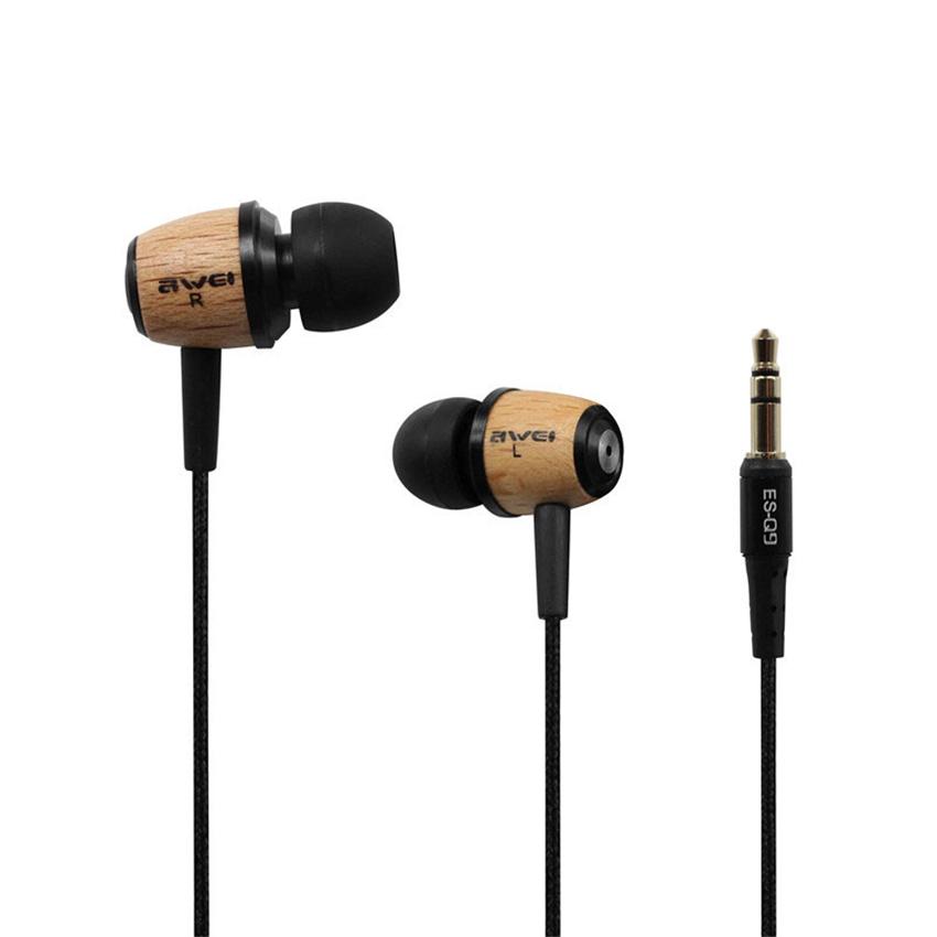 Music Earphones, BearBizz Q9 Wood Stereo Heavy Bass Music Headset Headphones 3.5mm Jack for iPhone Samsung Smart Phones(China (Mainland))