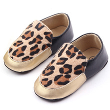 3 Colors  Infant Toddler Baby Boys Girls Shoes Leopard Fur First Walker Shoes(China (Mainland))