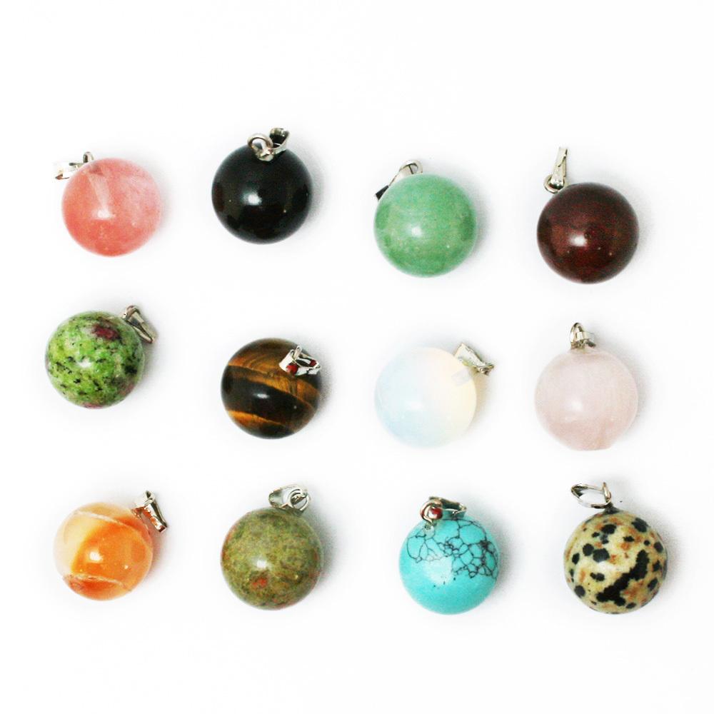 Купить 2015 fahsion горячая продажа ассорти из натурального камня кулоны круглые подвески шармы подвески для женщин, цт-btb688-0