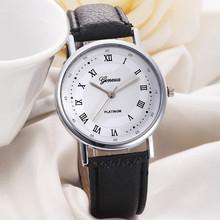 Geneva Luxury Roman Fashion Watch Women Dress Leather Quartz Man Watch Ladies Watches Hour Gift montre femme relogio feminino
