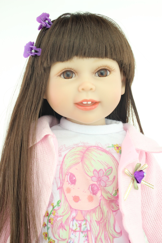"""18 """" American girl doll muy suave muñeca de la muchacha nuevo modelo antiguo de la muchacha de la muñeca de moda del regalo del bebé nuevo diseño(China (Mainland))"""