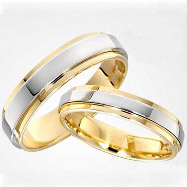classic mens womens wedding bands engagement rings couple rings sets