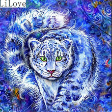 Buy Li Loye 5D Diamond Embroidery Blue Leopard DIY Diamond Painting Needlework Cross Stitch Kit Round Drill Home Decor Pattern JK459 for $6.58 in AliExpress store