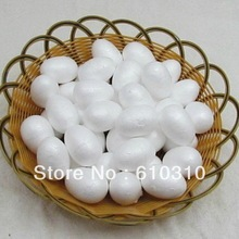 Free shipping wholesale 6cm natural white styrofoam oval balls for DIY toy body accessory(50pcs/lot)(China (Mainland))