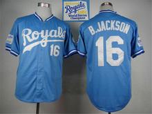 Buy Discount 16 Bo Jackson 18 Ben Zobrist Throwback Jersey blue gray white(China (Mainland))