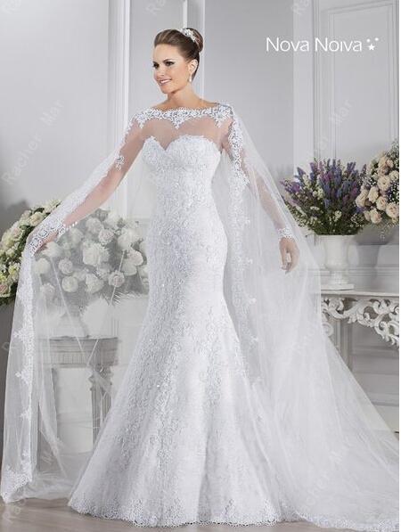 pas cher sirène vory robe blanche de mariée en dentelle robe de ...