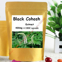 1Pack Black Cohosh Extract Capsule 400mg x 180pcs free shipping(China (Mainland))