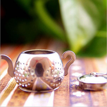 Stainless Steel Loose Teapot Shape Tea Leaf Infuser Tray Lovely Convenient Spice Drinking Strainer Herbal Filter - Warm Corner Store store