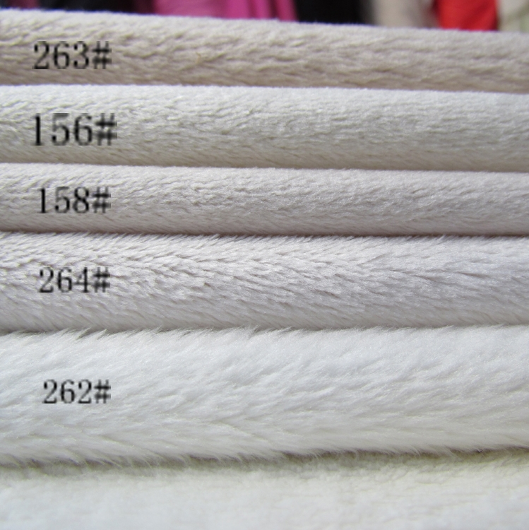 Free Shipping,High Quality Super soft Minky Solid Short Pile Fleece Fabric item for Patchwork,items puppets Patterns,DIY fabric(China (Mainland))