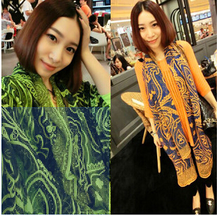 New Fashion Korean Stylish Personality Hit The Color Pattern Of Ancient Persia Voile Shawl Long Scarf S10(China (Mainland))