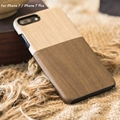 New Arrival High quality Outdoor Collection Wood Pattern Back Cover For iPhone 7 7 Plus Leather