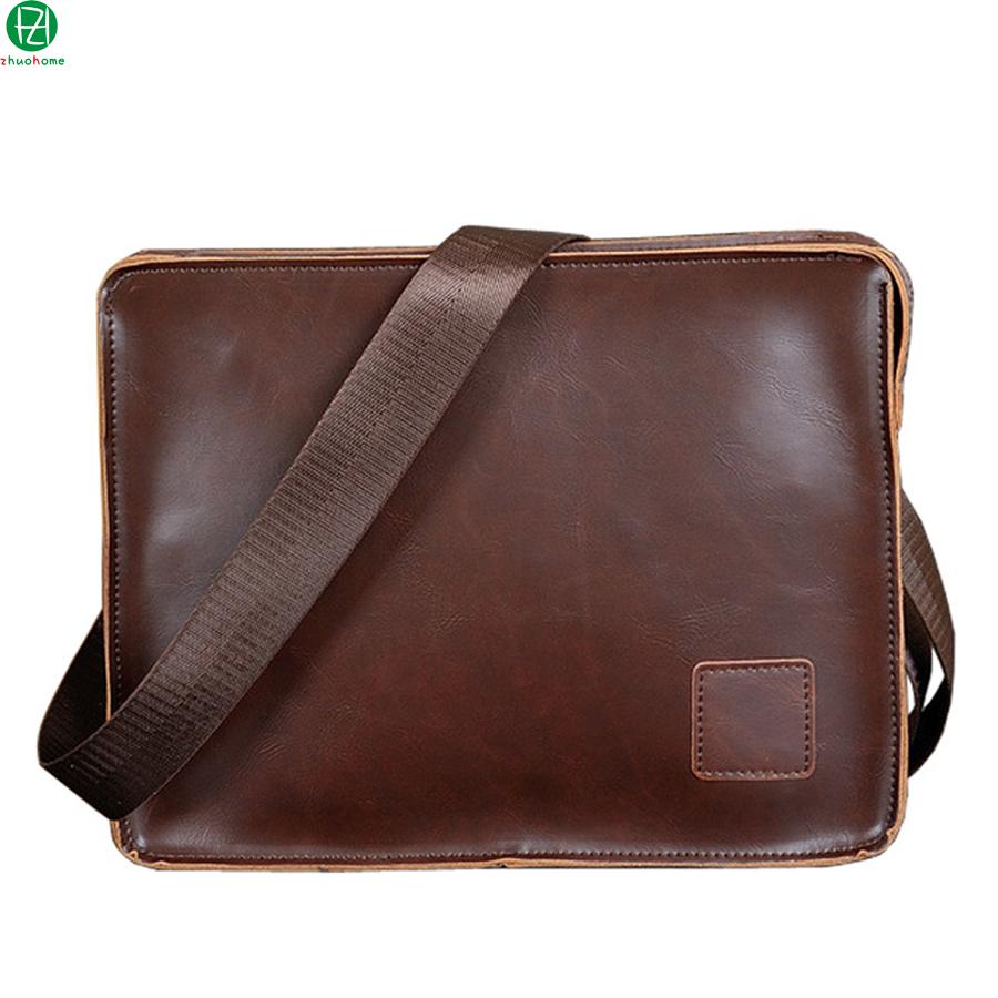genuine carzy horse leather men messenger bags England Style man envelope clutch bag shoulder crossbody Laptop bag for man(China (Mainland))