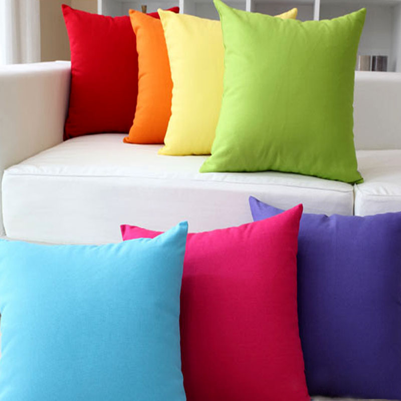 2016 square pillow case simplicity generous solid color throw pillow cover candy colors home. Black Bedroom Furniture Sets. Home Design Ideas