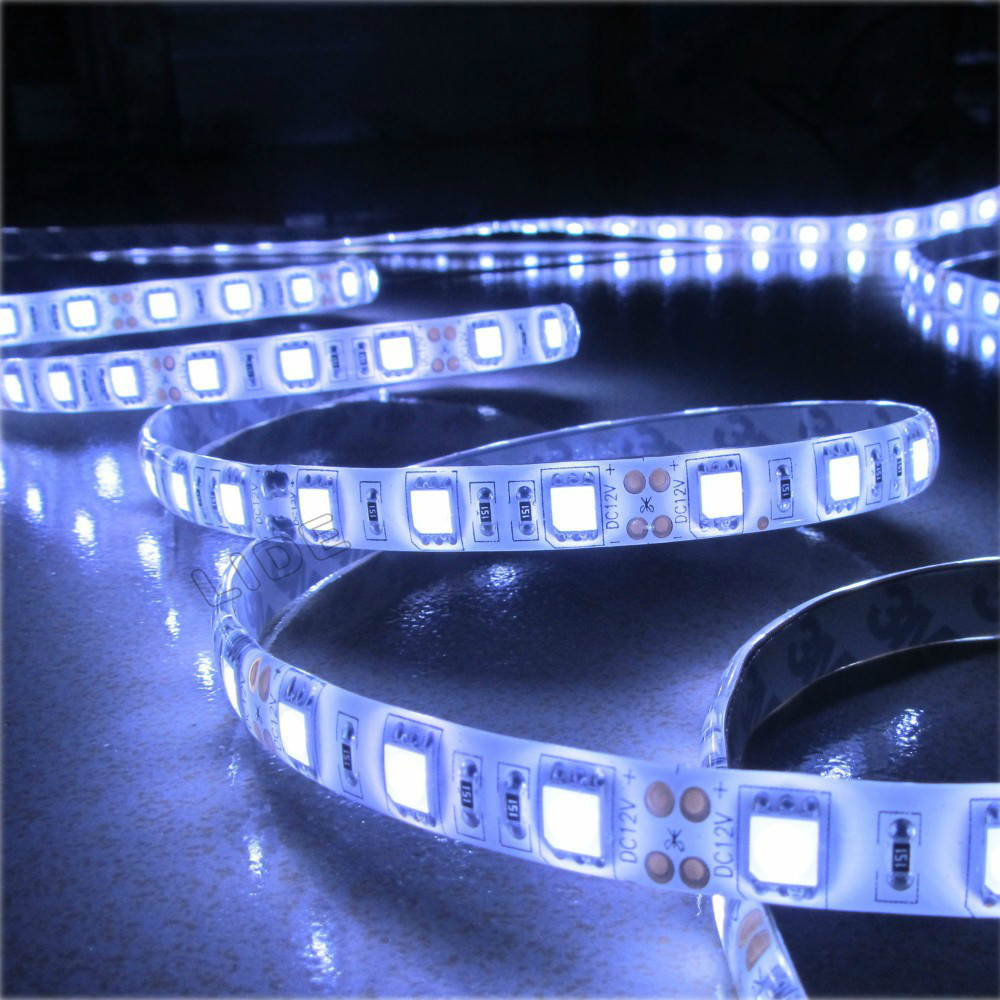 1m 60 LED 5050 waterproof SMD 12V flexible light ,6 color LED strip white/warm white/blue/green/red/yellow(China (Mainland))