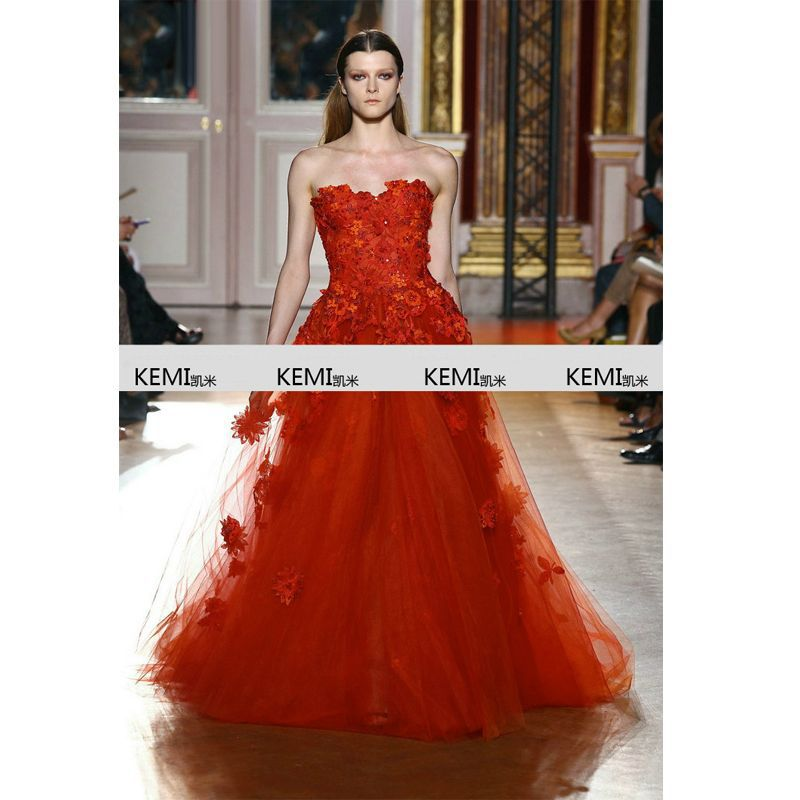 Zuhair Murad wedding dress big yards fat mm thin pendulum red brand2015