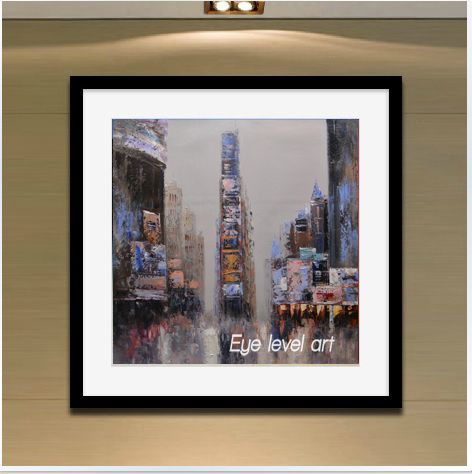 Times square in New York City street view original 100% hand-painted oil painting cloth art adornment on the wall(China (Mainland))