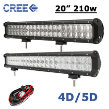 20 inch 210W LED Light Bar CREE 20 LED Work Light 4D 5D Fit 4x4 Truck