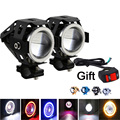 2 x High Power U7 Angel Devil Eye Light 125W Motorcycle LED Fog Spot light 1pc