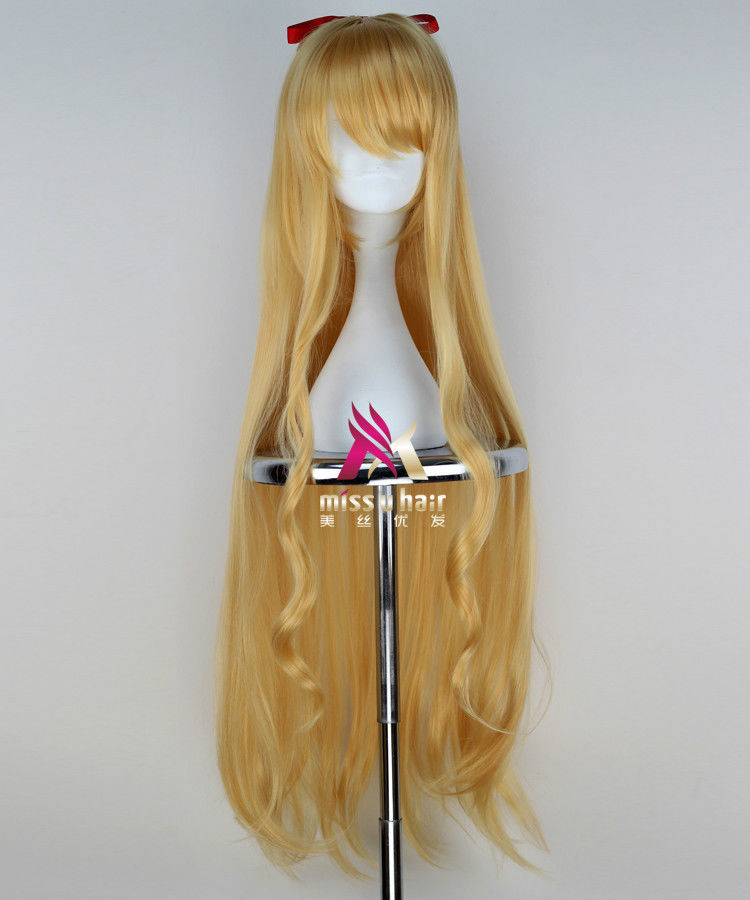 >>>Beautiful Lilith Bristol New Absolute Duo Long Blonde Animation Cosplay Wig Hair