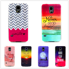 Luxury Quality Phone Case for Samsung Galaxy S5 / Neo / Duos LTE / i9600 G900 G903F G903FD G900FD IMD TPU Silicone Design Cover