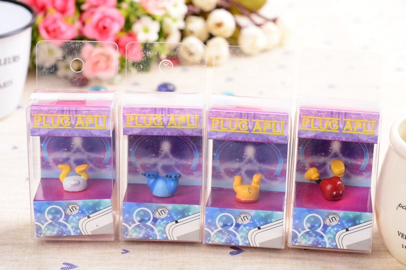 cute cartoon mickey stitch buttock dust plug earphone jack Plug iPhone/Samsung,freeshipping - r's store