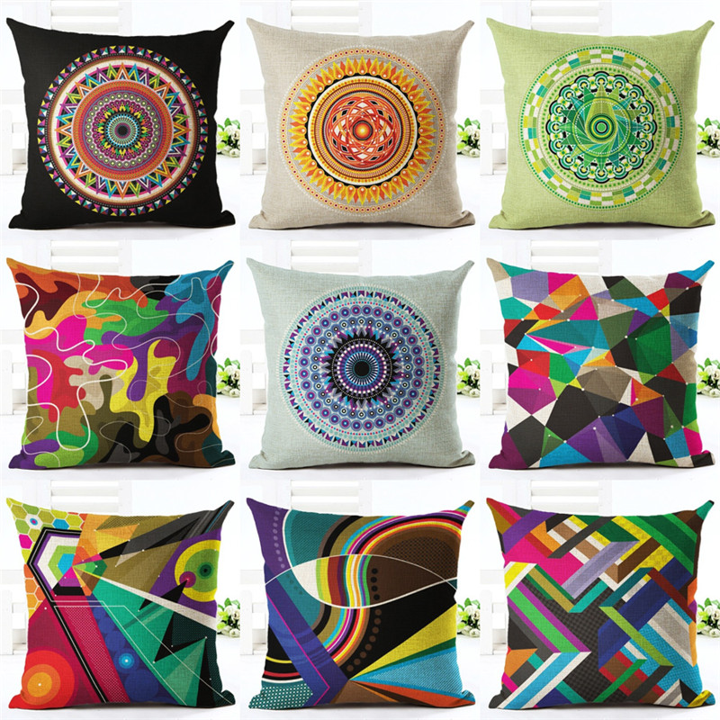 European Cushion Home Sofa Car Throw Pillows Geometric Style font b Plaid b font Printed Signature