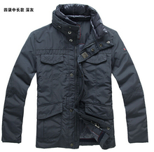 S-XXXL ! 2016 Winter new Men's brand peuterey fashion 90% white duck down double collar plus size down jacket coat(China (Mainland))