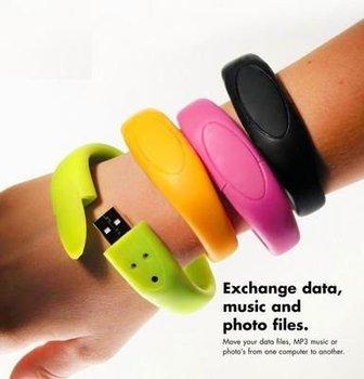 Freeshipping 1GB/2GB/4GB/8GB/16GB OEM LOGO Bracelet USB Flash Drive