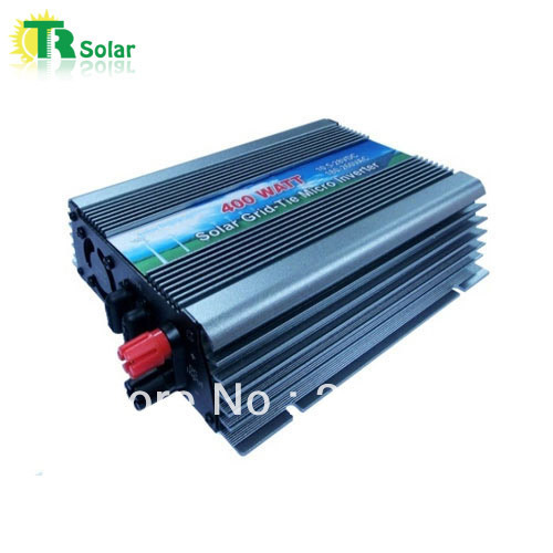 400W Gird Tie Pure Sine Wave Micro Solar Inverter Matched with the 12-18V solar panel for Home Using Free Shipping