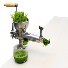 Stainless steel manual wheatgrass / wheat grass juicer machine lemon fruit vegetable health slow juicing extractor ZF - Zhoufeng Machinery & Technology Co., Ltd. store