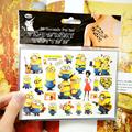 Cartoon Minions Child Temporary Tattoo Body Art Flash Tattoo Stickers 17 10cm Waterproof Henna Tatoo Car