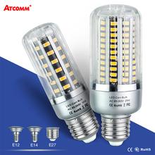 Buy 85V-265V Ampoule LED E27 Corn Bulb SMD 5736 Chip 5W 10W 15W 20W 25W E14 E12 Spotlight Lamp 32 72 130 LEDs No Flicker LED Lampara for $2.98 in AliExpress store