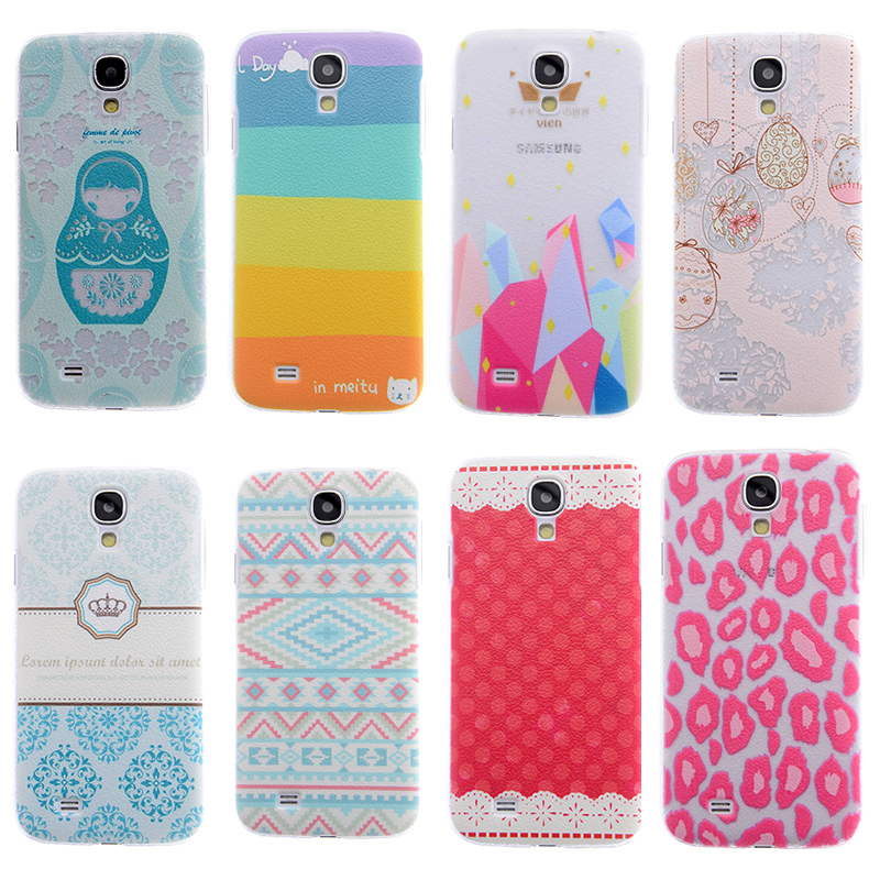 Phone Cases for Samsung Galaxy S4 case i9500 litchi colored drawing Cover mobile phone bags & cases Brand New Arrive 2014(China (Mainland))