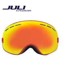 New genuine brand ski goggles double lens anti-fog big spherical professional ski glasses unisex multicolor snow goggles BNCC(China (Mainland))