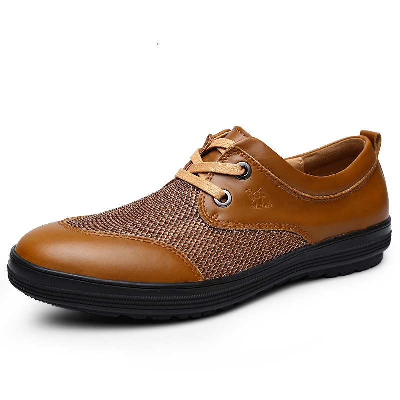 2015 AUTUM NEW PLUS SIZE Handcrafted Brand Genuine leather shoes men flat shoes Quality  breathable comfortable Outdoor shoes<br><br>Aliexpress