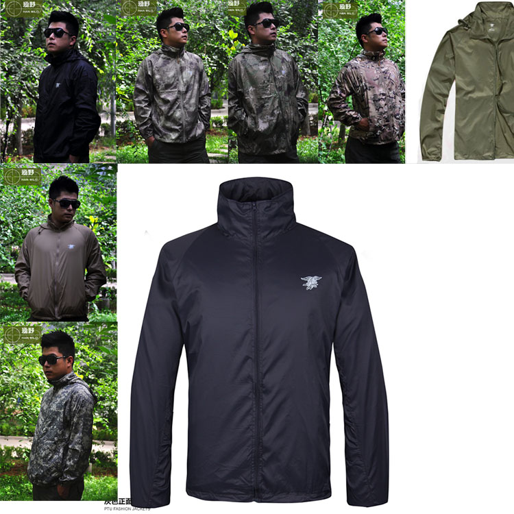 MIlitrary SEAL Special Forces Logo Light Anti UV Skin COat Windproof Jacket For AIRSOFT Cosplay Outdoors Climbing Camping(China (Mainland))