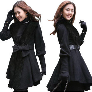 Free shipping-2012 new arrival winter fur coat cashmere fur collar overcoat wool coat woolen outerwearОдежда и ак�е��уары<br><br><br>Aliexpress