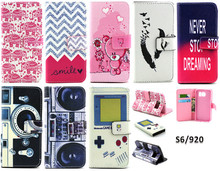 Vintage Camera Game Console Magnetic Flip Stand Wallet Leather Cover Case for Samsung Galaxy S6 G9200