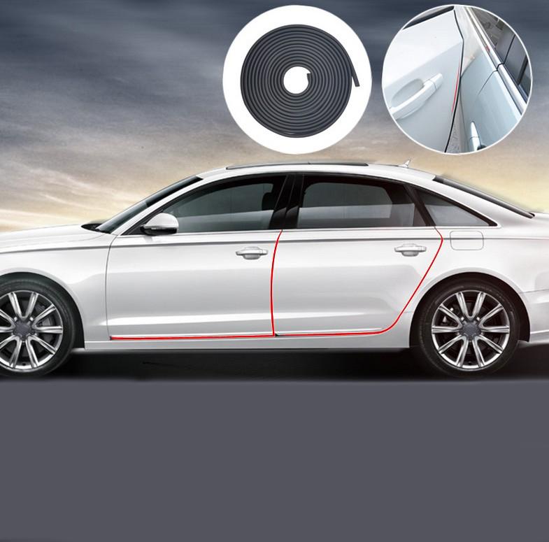 Car Door Edge Scratch Guard Protector Strip For fiat punto abarth 500 stilo ducato palio bravo doblo car styling(China (Mainland))