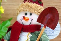 2014 New arrival Lovely Xmas Snowman Santa Clause Ornament Festival House Shop Decos for first service