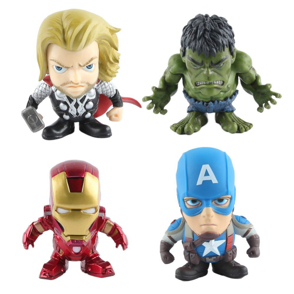 "New Movie Marvel Avengers 2 Avengers Age of Ultron 2"" Action Figure Toys Mini Captain America Hulk Iron Man Thor Black Widow(China (Mainland))"