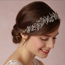 2016 da cerimonia nuziale della principessa fascia nuziale cristalli perle headwear wedding accessories spedizione gratuita(China (Mainland))