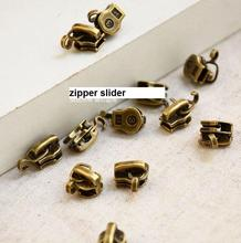 300pcs/lot 3# Vintage metal zipper head, zipper slider luggage Zipper Repair DIY Sewing Accessories Garment Tailor Tools AU187
