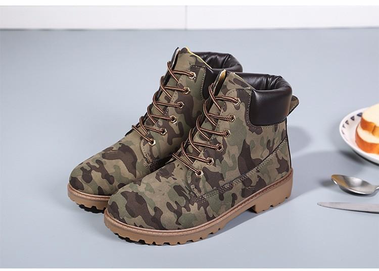 ซื้อ ลูกไม้ขึ้นการทำงานและความปลอดภัยผู้หญิงบู๊ทส์2016แฟชั่นฤดูหนาวต่ำส้นสตรีทหารบู๊ทส์ขนาด36-41รอบนิ้วเท้าBotas Mujer DX79