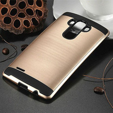 Buy Protective Hybrid LG G3 D855 Case Brushed PC + Soft Silicone Armor Slim Dual Layer Phone Bags Luxury Hard Cover LG G3 for $3.58 in AliExpress store