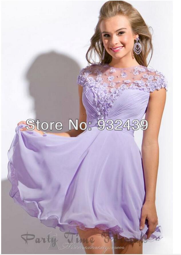 vestidos de festa curto lilas