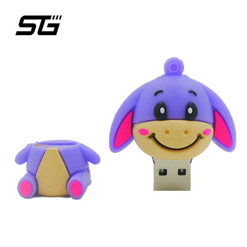 Hot Pen drive New Cartoon Little Donkey USB Flash Drive 16GB 8GB 4GB flash Memory card usb Stick memoria usb pendrive usb key(China (Mainland))