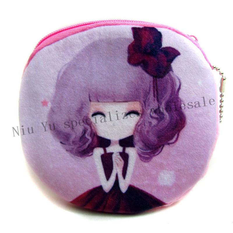 Горячая распродажа мультфильм кукла кошельки девушка дизайн мини плюшевые бумажник карты чехол женщины мешок монетки