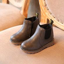 COZULMA ילדים קרסול מגפי בנות בני פרחוני פרח הדפסת צ 'לסי מגפי בנות סתיו מרטין מגפי ילדי חורף נעלי גודל 21 -36(China)
