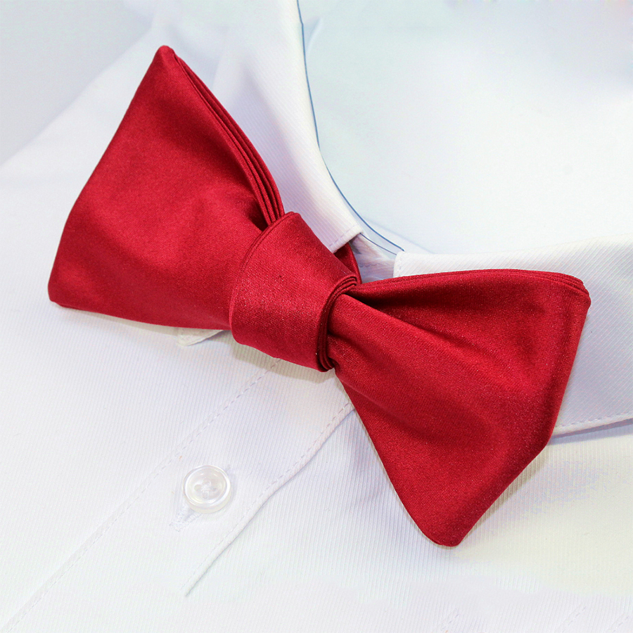 Hot Fashion Mens Bowties Solid Color Plain Silk Self Tie Bow Ties Butterflies Noeud Papillon Business Wedding Multi-Colors(China (Mainland))
